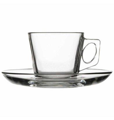 XXLselect Espressotasse mit Untertasse | Glas | 75ml | Pro 24 Stück