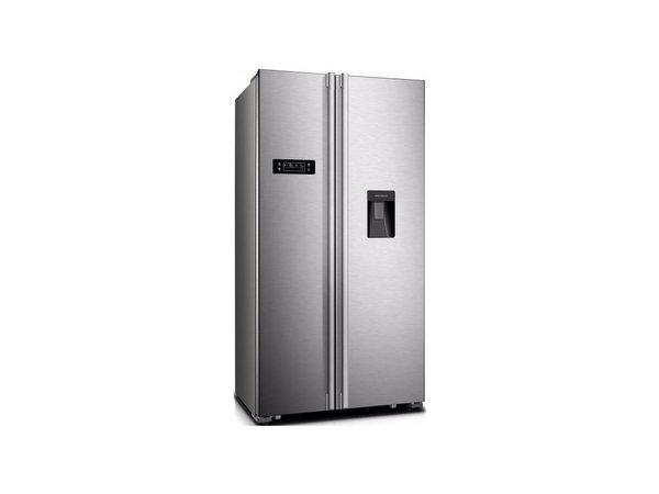 Frilec Amerikanischer Kühlschrank | Doppeltüren | Kühl 342L / 172L Einfrieren | 650x900x1780 (h) mm