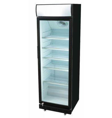 Gastro-Cool Anzeigen Kühlschrank Schwarz   360 Liter   620x640x2010 (h) mm