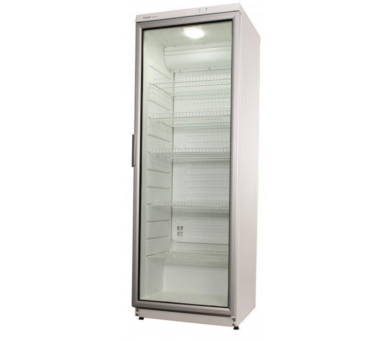 Exquisit Glastür Kühlschrank   weiß   320 Liter   600x600x1730 (h) mm
