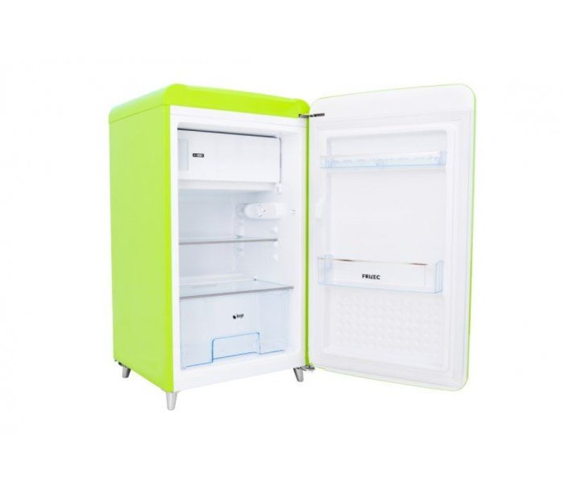 Frilec Kühlschrank Zitrone | Kühl 108L / 13L Einfrieren | 540x620x980 (h) mm