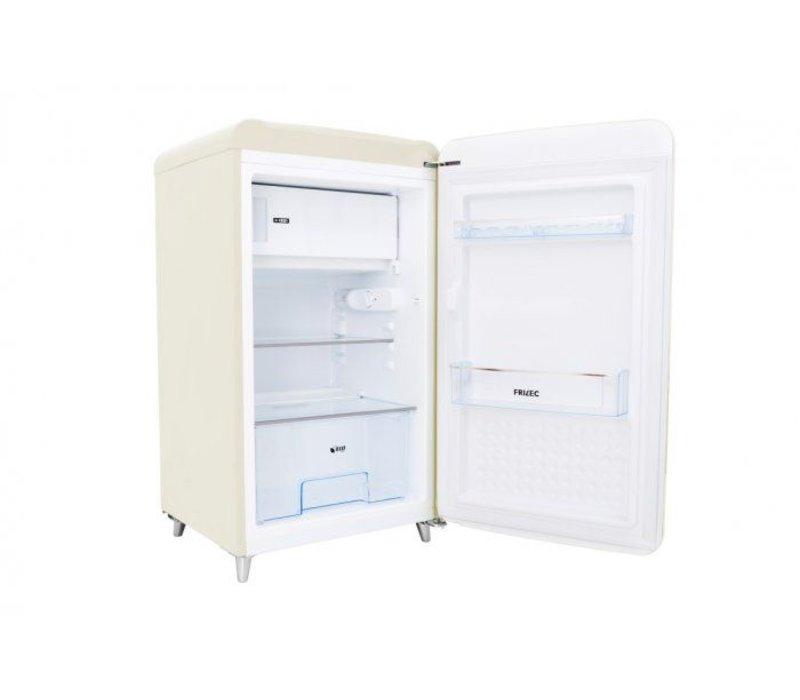 Frilec Kühlschrank Creme   Kühl 108L / 13L Einfrieren   540x620x980 (h) mm