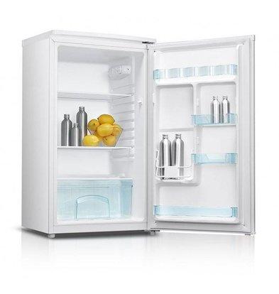 Exquisit Kühlschrank Weiß | 93 Liter | 2 Einlegeböden und 1 Schublade | 480x450x850 (h) mm