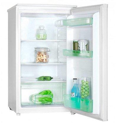 Exquisit Kühlschrank Weiß | 92 Liter | 2 Einlegeböden und 1 Schublade | 480x500x850 (h) mm