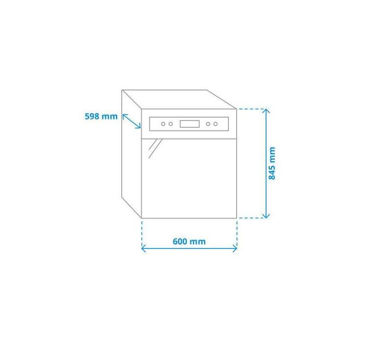 Exquisit Geschirrspüler Weiß | 12 Gedecke | 6 Programme | 600x600x850 (h) mm