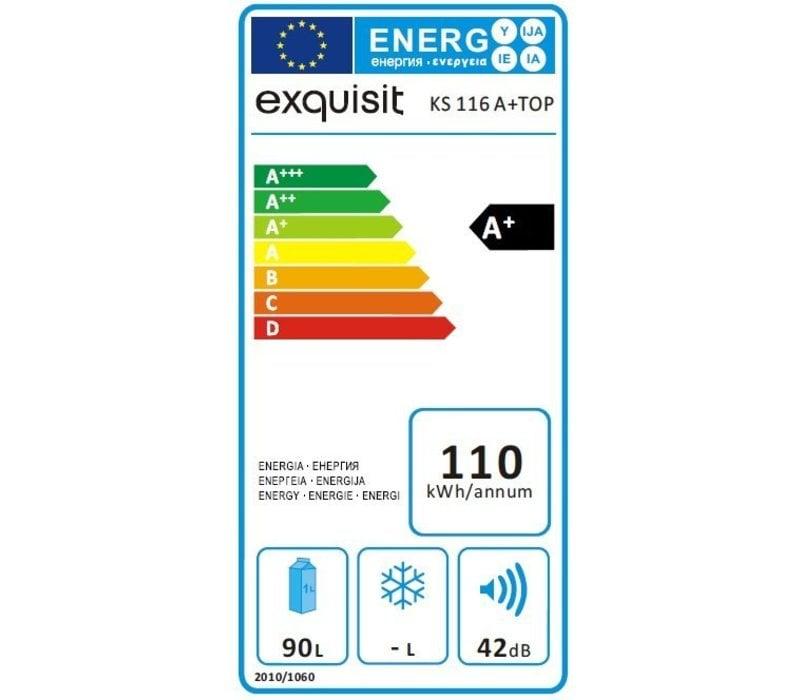 Exquisit Kombination Kühlschrank Weiß   Kühl 80L / 10L Einfrieren   480x520x850 (h) mm