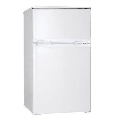 Exquisit Fridge Dual Doors White   Cool 60L / Freeze 25L   520x480x850 (h) mm