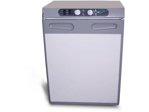 Exquisit Absorber-Kühlschrank | 60 Liter | 12V / 230V / Butan | 480x480x640 (h) mm