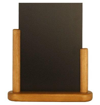 Securit Eleganter Tisch Tafel | Teak Veredelung | A6 | 150x210mm
