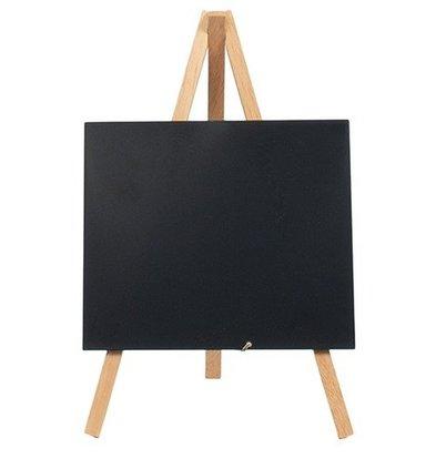 Securit Tabelle Tafel Mini Buche | Stativ | Incl. Kreidemarker | 240x150cm