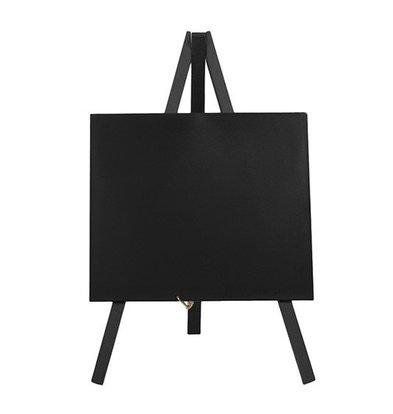 Securit Tabelle Tafel Mini Schwarz | Stativ | Incl. Kreidemarker | 240x150cm