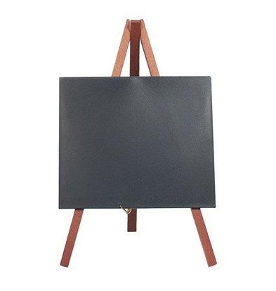 Securit Tabelle Tafel Mini Mahagoni | Stativ | Incl. Kreidemarker | 240x150cm