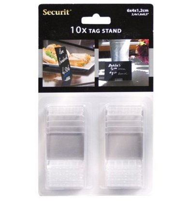 Securit Acryl Stands Transparant | voor Krijtbord Pricetags (excl.) | Per 10 stuks