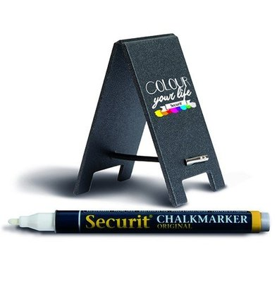 Securit Mini-Tischplatte | Incl. Kreidemarker | 170x50x3mm | Pro 5 Stück