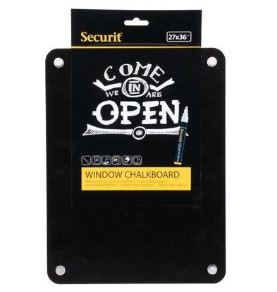 Securit Fenster Tafel mit Zuignapppen | Sided beschreibbar | 270x360mm