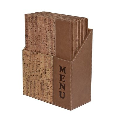 Securit Menu Cards Box incl. 10 Menu Cards Cork | Format A4 | 370x290x210mm