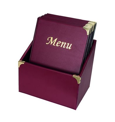 Securit Menu cards Box incl. 10 Menu cards Bordeaux Basic | Format A4 | 370x290x210mm