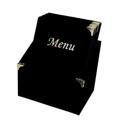 Securit Menukaarten Box incl. 10 Menukaarten Zwart Basic   Formaat A4   370x290x210mm