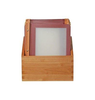 Securit Menü Box mit 10 Menüs Woody. | A4 | 370x290x210mm