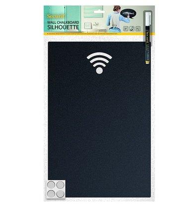 Securit Silhouette WIFI   Incl. Kreidemarker und Klettstreifen   380x250mm