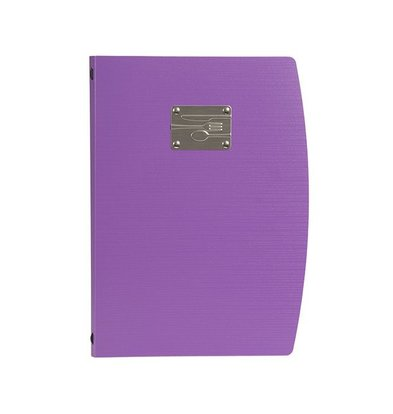 Securit Menu Rio A4 | Purple with cutlery | 4 x A4 Single Pages