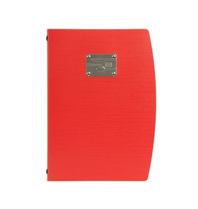 Securit Menu Rio A4 | Red with Cutlery | 4 x A4 Single Pages
