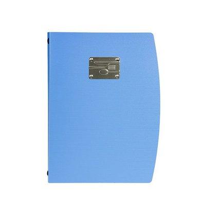 Securit Menukaart Rio A4   Blauw met Bestek   4 x A4 enkel Pagina's