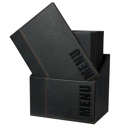 Securit Box mit 20 Menüs Trendy. | blue | A4 | 370x290x210mm