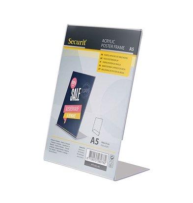 Securit Menukaarthouder A5 | L-Vormig Model