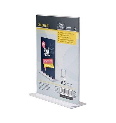 Securit Menukaarthouder A5 | Verticaal Model