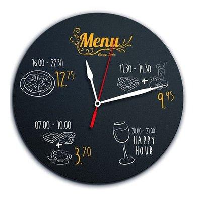 Securit Silhouette Uhr   Incl. Kreidemarker und Klettstreifen   290x290mm