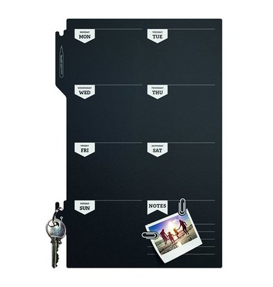 Securit Silhouette Weekplanner | Incl. Chalkstick and Velcro Strips | 300x450mm
