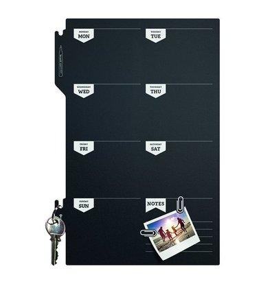 Securit Silhouette Wochenkalender   Incl. Kreidemarker und Klettstreifen   300x450mm