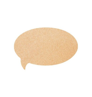 Securit Cork Silhouette BUBBLE | Incl. Chalkstick, Adhesive tape and Pins | 300x450mm