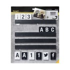 Securit Letterboard Black | Incl. Letters and Figures | 1m shelf