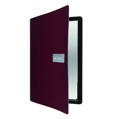 Securit Leather Menu Royal | Red | A4 format
