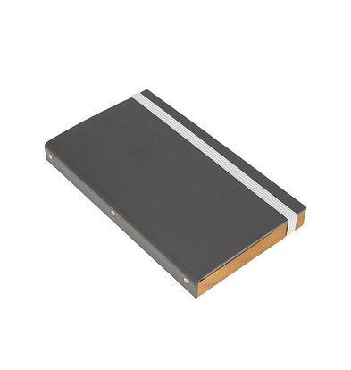 Securit Account Presentation folder   Gray, Leather Style   179x100mm