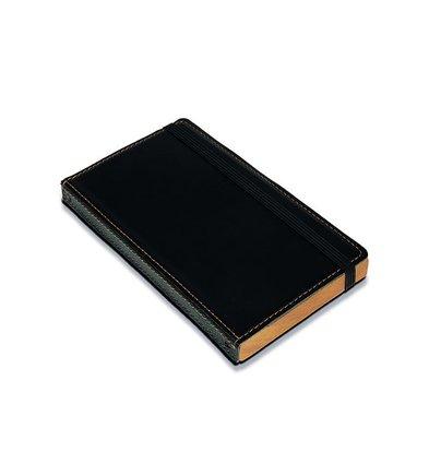 Securit Account Presentation folder   Black, Leather Style   179x100mm
