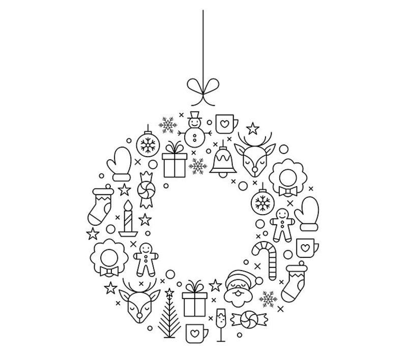 Securit vorlage f r fenster weihnachten a2 format incl for Kreidemarker vorlagen weihnachten