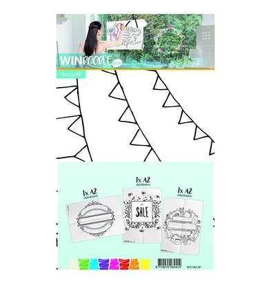 Securit Template for Window Store | A2 Format | Incl. Chalkstick | Set of 3