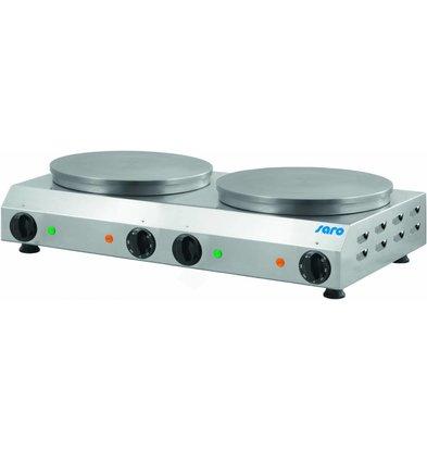 Saro Crepes Baking Plate 2x Ø350mm | 230V / 2.4 kW | 760x430x170 (h) mm