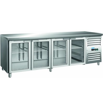 Saro Koelwerkbank 4 Doors | 616L | Glass doors | 2230700x890 (h) mm