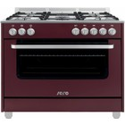 Saro Gas cooker 5 Pits + Electric Oven Red | 230V | 900x600x850 (h) mm