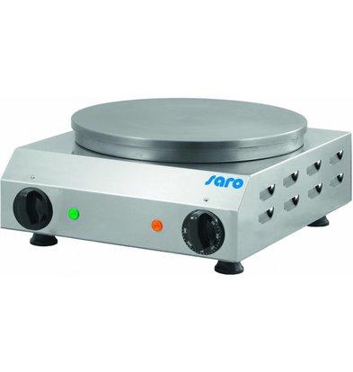 Saro Crepesbakplaat Ø350mm | 230V/2,4 kW | 370x430x170(h)mm