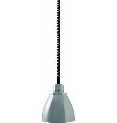 Saro Warmtelamp Chroom | Kap Ø230mm | Spiraalkabel 1,55m
