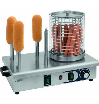 Saro Hotdog wärmer mit Broodwarmers | 4,5kW | Ø190x240 (h) mm