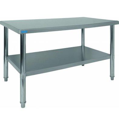 Saro Werktafel RVS | Incl. Onderschap | 1200x700x860(h)mm