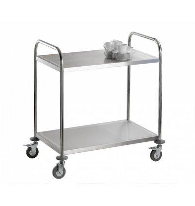 Saro Trolley 2 Blätter | INOX Heavy Duty | 860x540x940 (h) mm