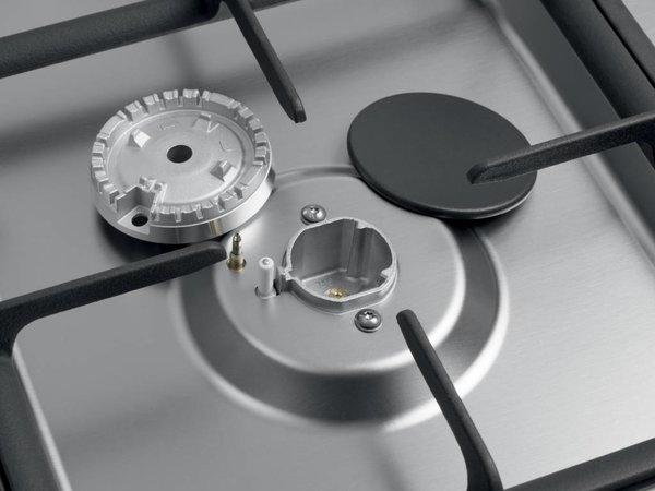 Saro Gasfornuis 5 Pits + Elektrische Oven Zilver | 230V | 900x600x850(h)mm
