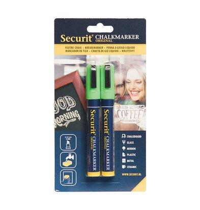 Securit Set of 2 Medium Chalksticks | Green | 2-6mm